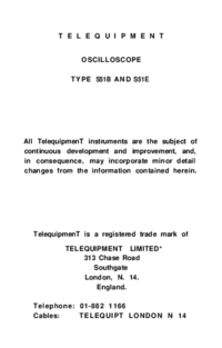 Telequipment-9442-Manual-Page-1-Picture