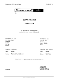 Service and User Manual Telequipment CT71
