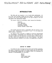 Service and User Manual Telequipment D83