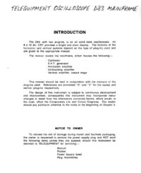 Serviço e Manual do Usuário Telequipment D83