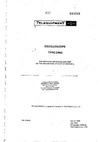 Serviceanleitung Telequipment DM63