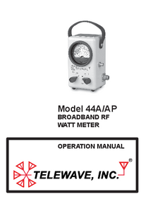 User Manual Telewave 44A