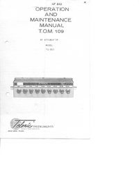 Instrukcja serwisowa Telonic TG-950