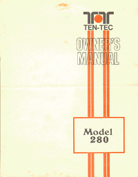 Manuale d'uso Ten_Tec 280