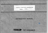 Service and User Manual Tenma 72-380