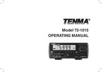 Bedienungsanleitung Tenma 72-1015