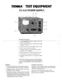 Datenblatt Tenma 72-630