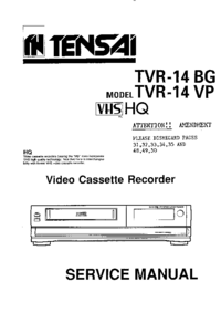 Service Manual Tensai TVR-14 VP