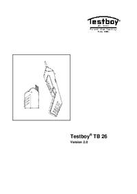 Руководство пользователя Testboy TB 26