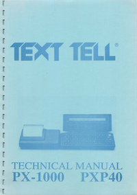 Service and User Manual Textell PX-1000