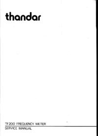 Servicehandboek Thandar TF200