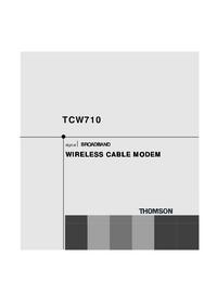 manuel de réparation Thomson TCW 710