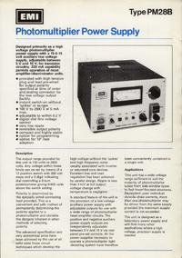 Serviço e Manual do Usuário Thorn_emi PM28B