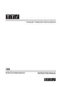 Gebruikershandleiding Thurlby 1604