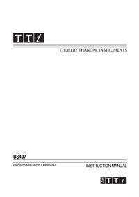 Manual do Usuário Thurlby BS407