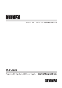Manuale d'uso Thurlby TSX Series