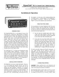 Manual del usuario TigerTronics SignaLink SL-1+