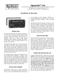 Manual del usuario TigerTronics SignaLink USB