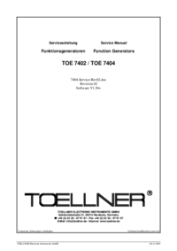 Datenblatt Toellner TOE 7404