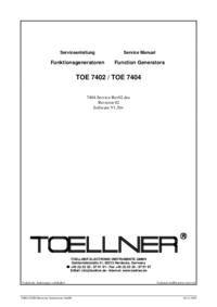 Fiche technique Toellner TOE 7404