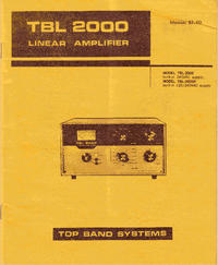 Service and User Manual Topbandsystems TBL 2000