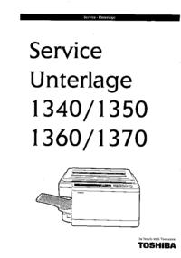 Serviceanleitung Toshiba 1340