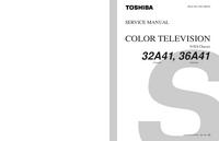 Руководство по техническому обслуживанию Toshiba 32A41