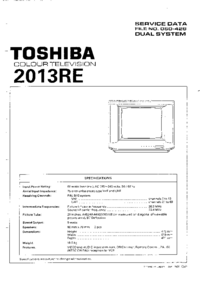 Manual de servicio Toshiba 2013RE