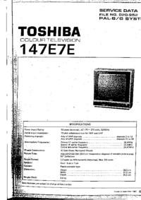 Serviceanleitung Toshiba 147E7E