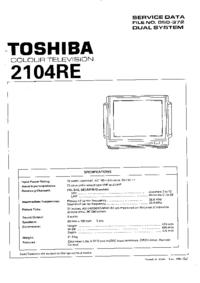 Manual de servicio Toshiba 2104RE