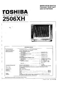 Manuale di servizio Toshiba 2506XH