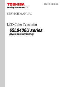 Руководство по техническому обслуживанию Toshiba 65L9400U Series