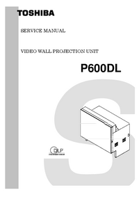 Руководство по техническому обслуживанию Toshiba P600DL