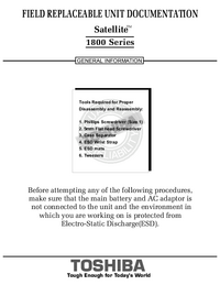 Service Manual Toshiba Satellite 1800