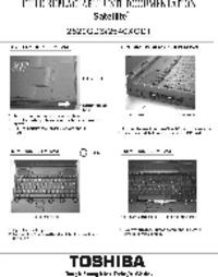 Serviceanleitung Toshiba Satellite 2520CDS