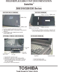 Manual de servicio Toshiba Satellite 320