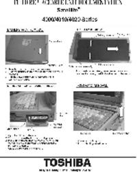 manuel de réparation Toshiba Satellite 4020