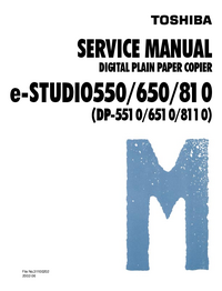 Manual de servicio Toshiba e-STUDIO 650