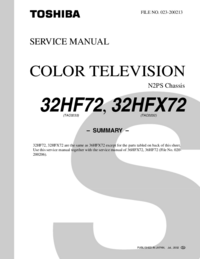 Service Manual Toshiba 32HF72