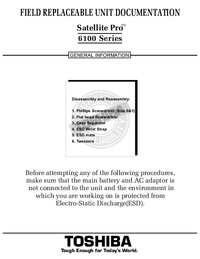 Service Manual Toshiba Satellite Pro 6100 Series