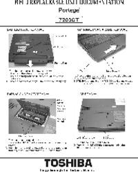 Manual de serviço Toshiba Portege 7200CT