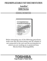 Service Manual Toshiba Satellite 5000 Series