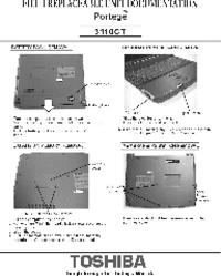 Manual de servicio Toshiba Portege 3110CT