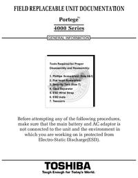 Instrukcja serwisowa Toshiba Portege 4000 Series