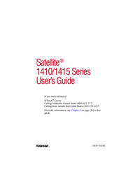 Manuale d'uso Toshiba Satellite 1410 Series
