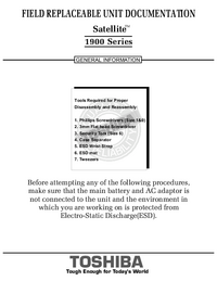 Instrukcja serwisowa Toshiba Satellite 1900 Series