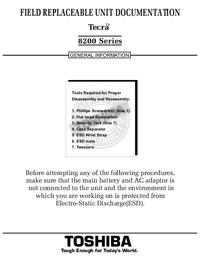 Instrukcja serwisowa Toshiba Tecra 8200 Series