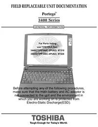 manuel de réparation Toshiba Portege 3400 Series