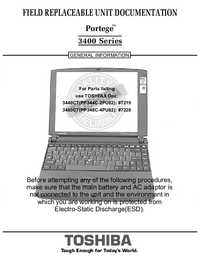 Manual de servicio Toshiba Portege 3400 Series