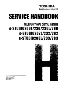 Service Manual Toshiba e-STUDIO202L/232/282